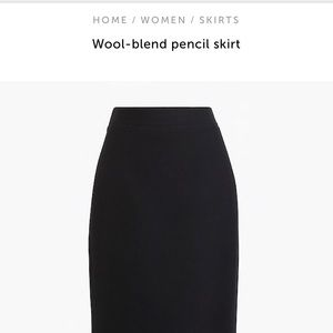 J. Crew Wool-Blend Pencil Skirt
